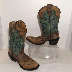 Vintage Girls Bluebird Danpost Leather Boots Sz 4